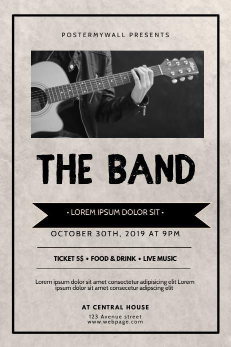 Vintage Band Flyer Template Poster