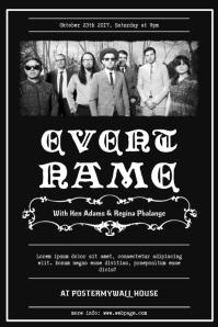 Vintage Band FLyer TEmplate Póster