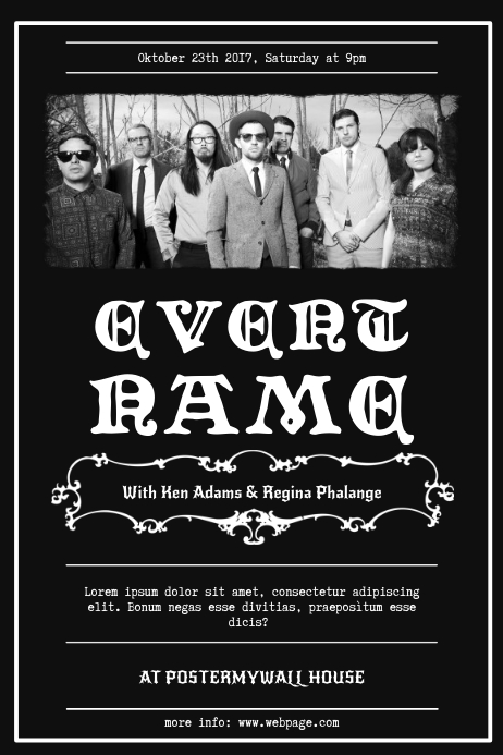 Vintage Band Flyer Template  Postermywall