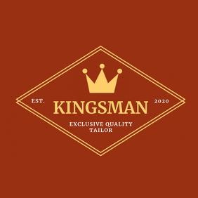 Vintage banner logo template tailor