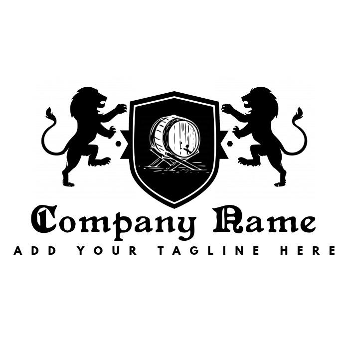 vintage bar or pub logo Logótipo template