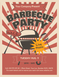 Vintage Barbecue Flyer template