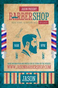 Vintage Barber Shop Ad Poster