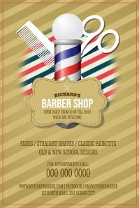 Vintage Barber Shop Poster