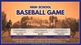Vintage Baseball Highschool Tournament Schedule Banner