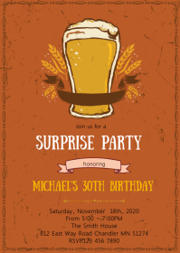 Vintage Beer birthday party invitation