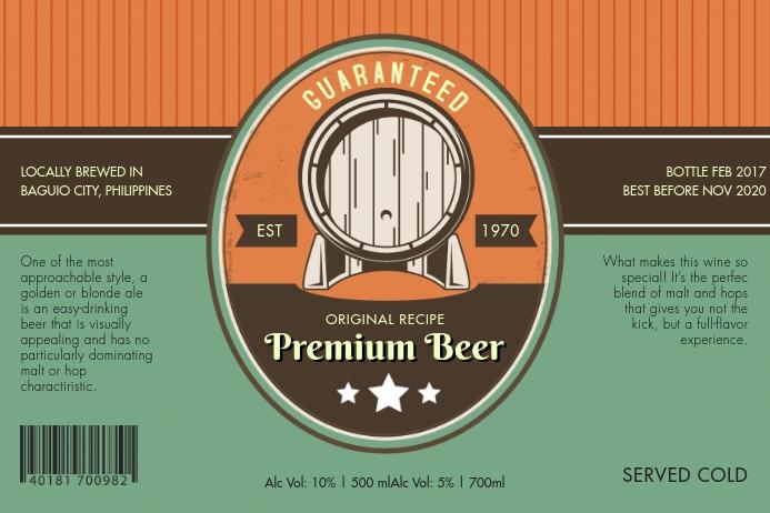 Vintage Beer Label Etiket template