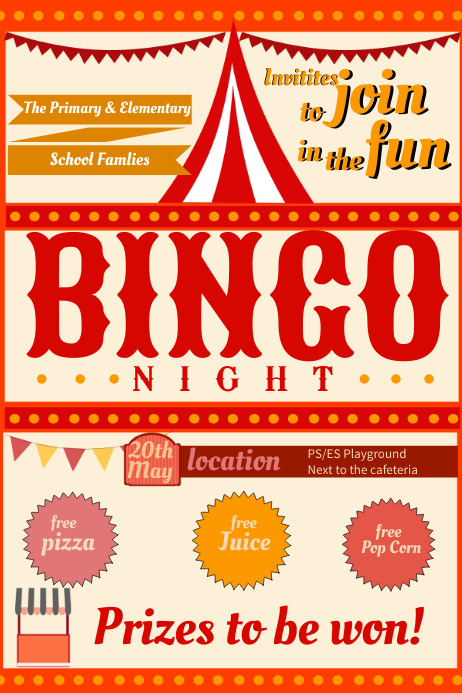Vintage Bingo Night Flyer Template