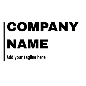 Vintage black and white company name