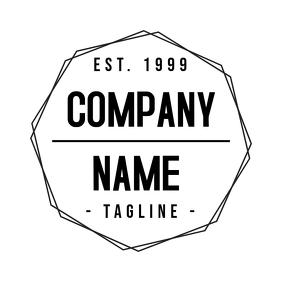 Vintage black and white logo