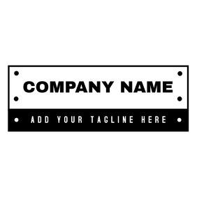 Vintage black and white minimal logo