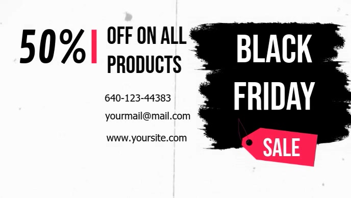 Vintage Black Friday Sale Facebook Cover Video