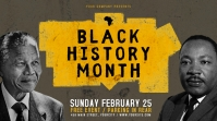 Vintage Black History Month Landscape Digital Display template