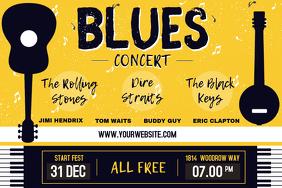 Vintage Blues Concert Poster