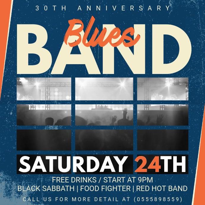 Vintage Blues Music Concert Video Ad