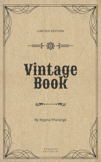 Vintage book cover template Capa do Kindle