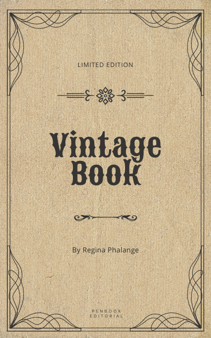Vintage book cover template Kindle/Book Covers