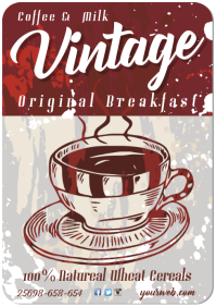 Vintage Breakfast Poster A3 template