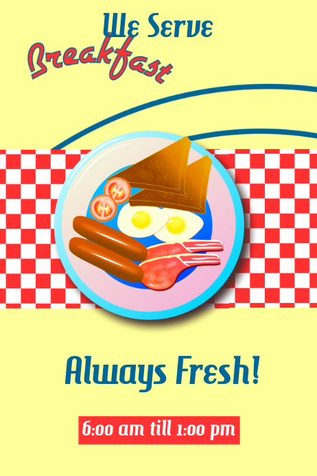 Vintage Breakfast Poster template