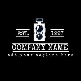 Vintage camera photography logo