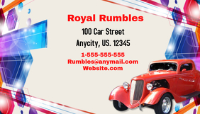 Vintage Car Busines Card template