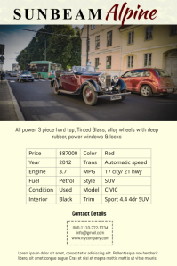 Vintage Car Sale Poster Template