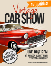 Vintage Car Show Flyer (US Letter) template