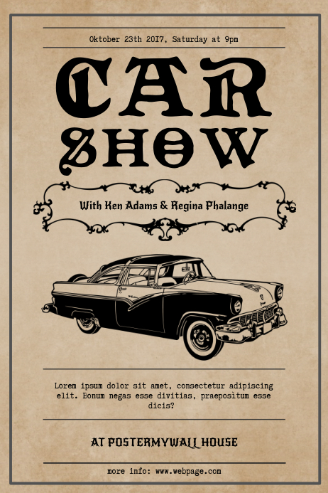 Vintage Car Show Flyer Template