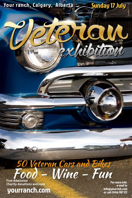 Vintage Cars Event Flyer Cartaz template