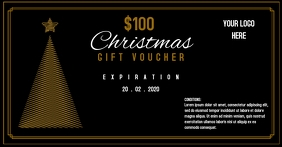 Vintage christmas gift voucher template