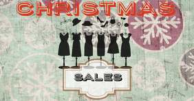 vintage christmas sales facebook ads Facebook-Anzeige template
