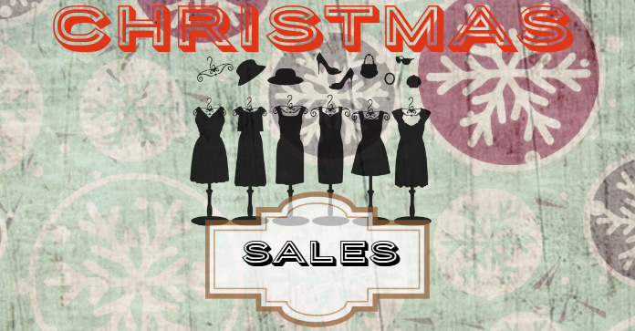 vintage christmas sales facebook ads Facebook-advertentie template