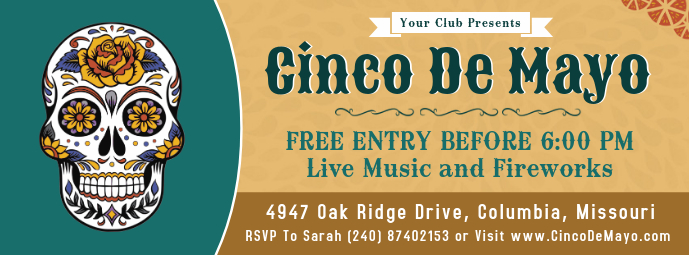 Vintage Cinco de Mayo Music Event Banner