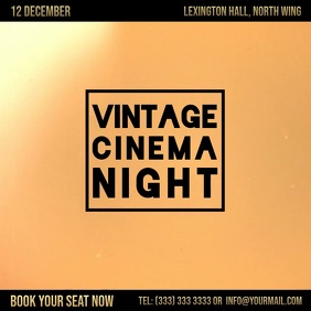 Vintage cinema night digital ad