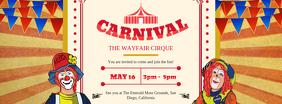 Vintage Circus Custom Facebook Banner