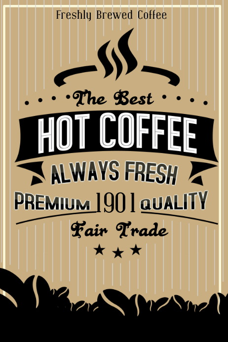 Vintage Coffee Shop Poster Template