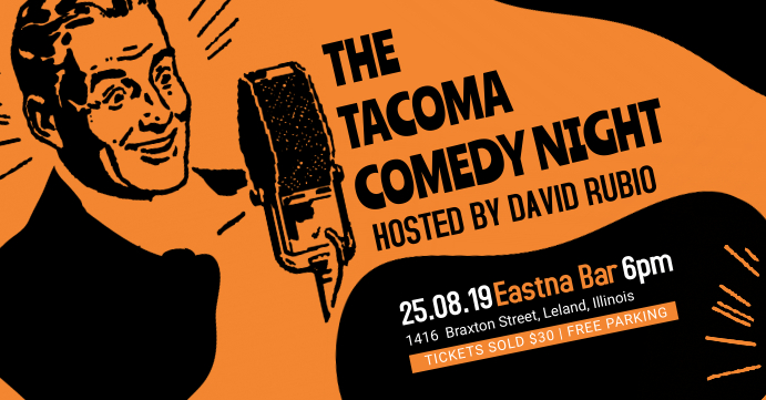 Vintage Comedy Night Facebook Event Banner