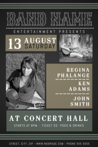 Vintage Country Concert Event Flyer Template
