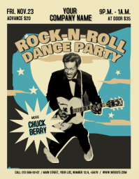 Vintage Dance Party Flyer Pamflet (VSA Brief) template