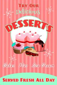 Vintage Desserts Poster template
