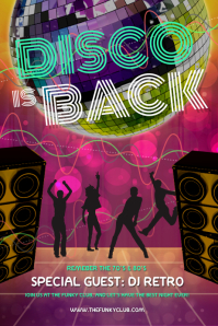 Vintage Disco Party Poster template