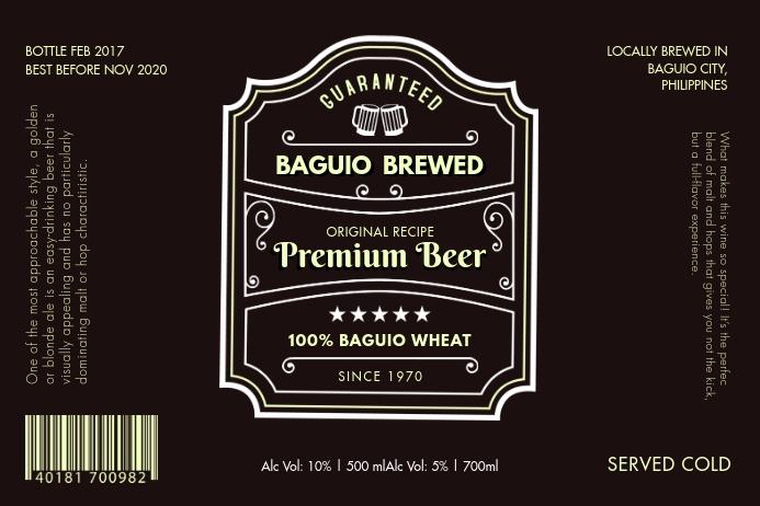 Vintage Drink Beer Label Etiket template