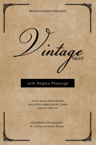 Vintage Elegant Event FLyer Template