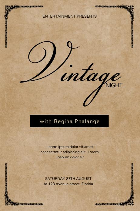 Vintage Elegant Event FLyer Template