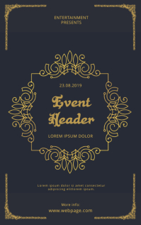Vintage Event Flyer Template Capa do Kindle