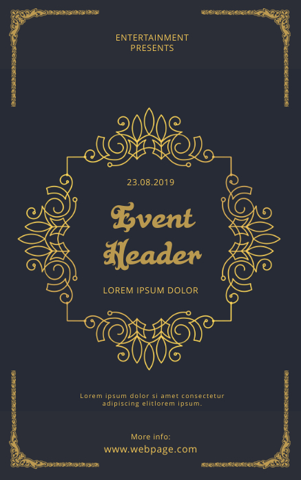 Vintage Event Flyer Template Portada de Kindle