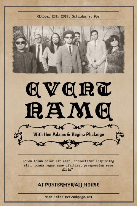 Vintage Event Flyer Template Poster