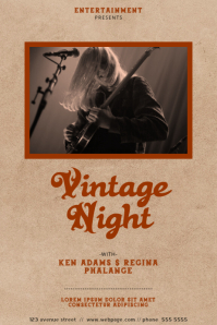 Vintage Event Rock Flyer Template