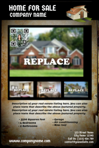 Best vintage flyer for real estate agencies