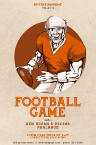 Vintage Football Game Flyer Template